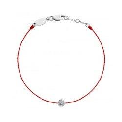 B01-001F Fashion Bracelet Jewelry Round Zircon Redline Bracelet For Women Simple Gold Silver Red Rope Women Accessories