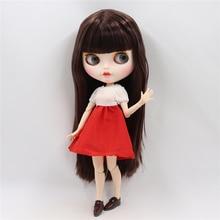 Neo Blythe Doll White Red Skirt Dress