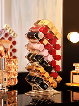 28 Grids Acrylic Makeup Organizer Storage Box Cosmetic Lipstick Jewelry Box Case Holder Display Stand Make Up Organizer 24 grids lipstick holder makeup lipstick display stand storage rack makeup organizer acrylic storage box