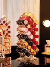 Caja de almacenamiento de maquillaje organizador de acrílico de 28 rejillas, estuche para joyería, lápiz labial cosmético, soporte de exhibición, organizador de maquillaje