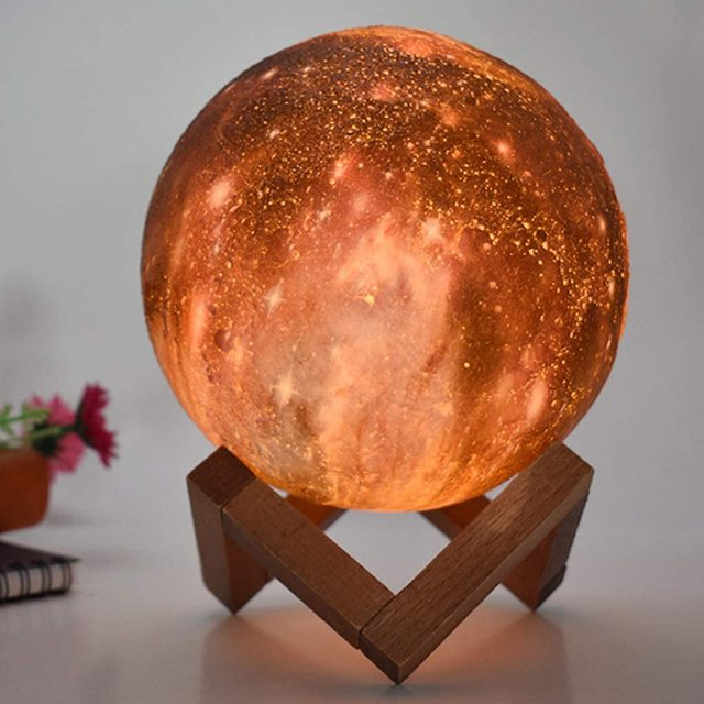 ZK20 3D Printing Moon Lamp Galaxy Moon Light Kids Night Light 16 Color Change Touch and Remote Control Galaxy Light as  Gifts 3