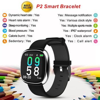 P2 Smart Bracelet Heart Rate Monitor Blood Pressure Smart Band Color Screen Fitness Activity Tracker Calories Smart Wristband