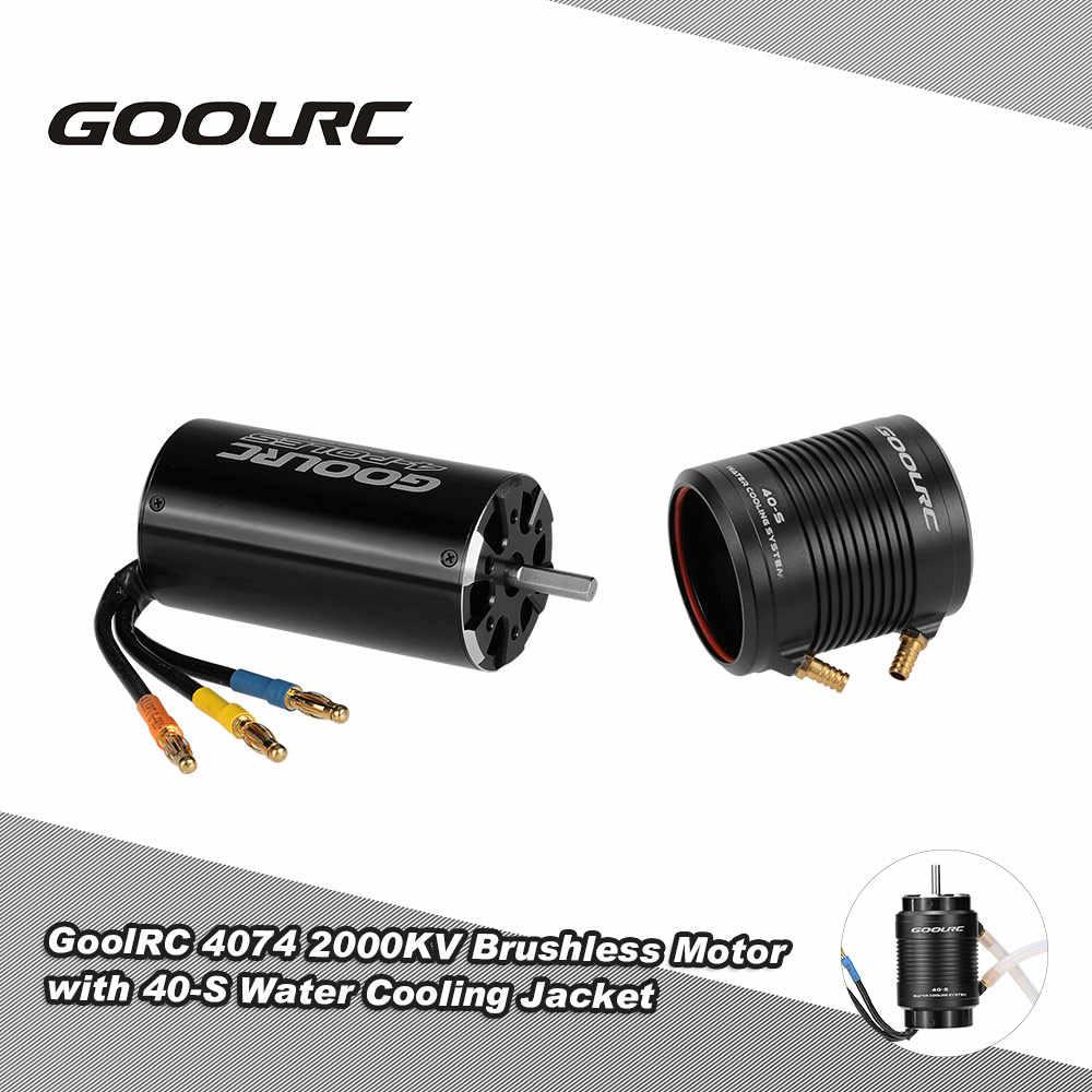 Original GoolRC 4074 2000KV Motor sin escobillas y 40-S juego combinado de refrigeración por agua para 1000mm (o superior) RC barco