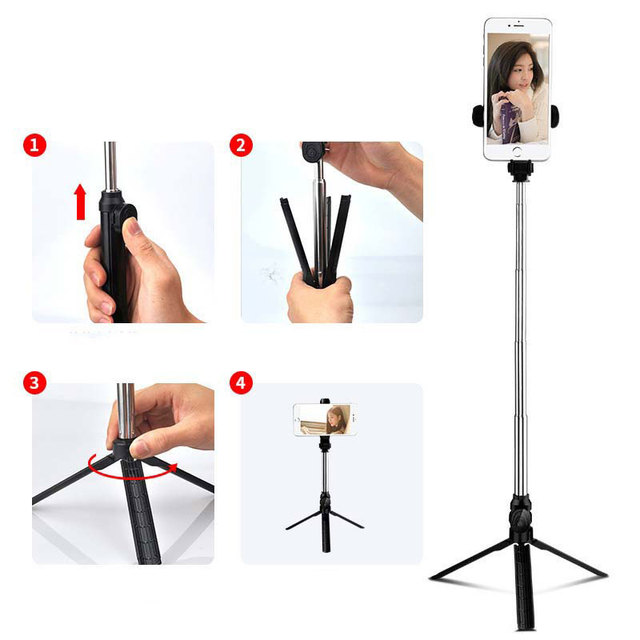 Wireless Bluetooth Selfie Stick for iphone/Android Mobile Phone Selfie Stick Foldable Handheld Monopod Shutter Extendable Tripod Uncategorized