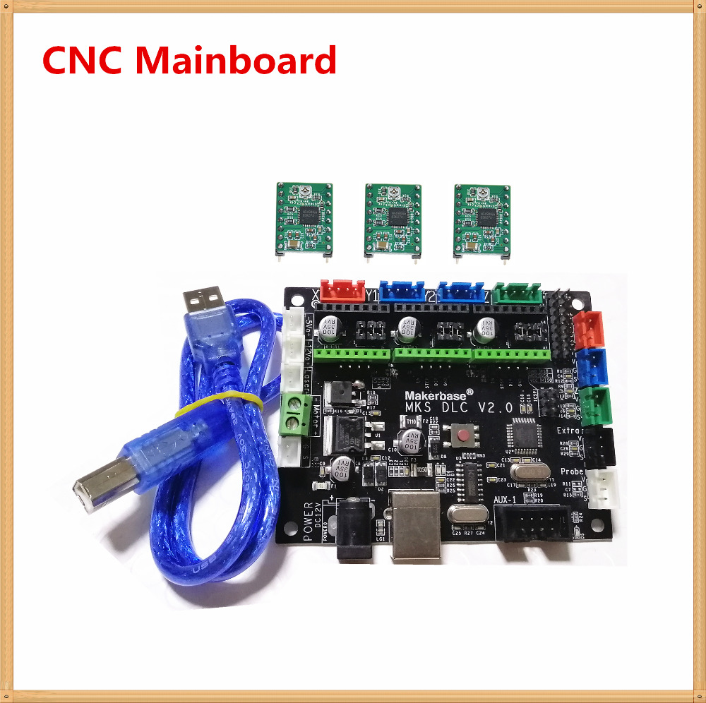MKS DLC V2.0 GRBL 1.1 CNC Controller 3 Axis Stepper Laser Driver Motherboard GRBL Breakout Plate CNC Engraving Machine Mainboard