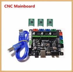Mks dlc v2.0 grbl 1.1 cnc controlador de 3 eixos stepper driver a laser placa de fuga placa placa placa placa placa de fuga cnc máquina de gravura mainboard