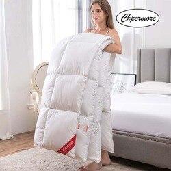 Chpermore, 95% белый гусиный/утиный пух, стеганое одеяло, пять звезд, зимнее одеяло для отеля, 100% хлопок, покрывало, король, королева, Твин, полный ра...