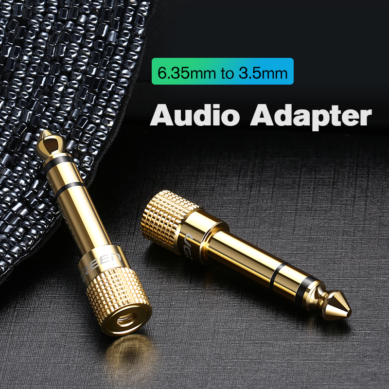 Ugreen Jack 3.5 Speaker Connector 6.35mm Male To 3.5mm Female Audio Connector 3.5 Jack Aux Cable For Speaker Guitar Jack 6.35
