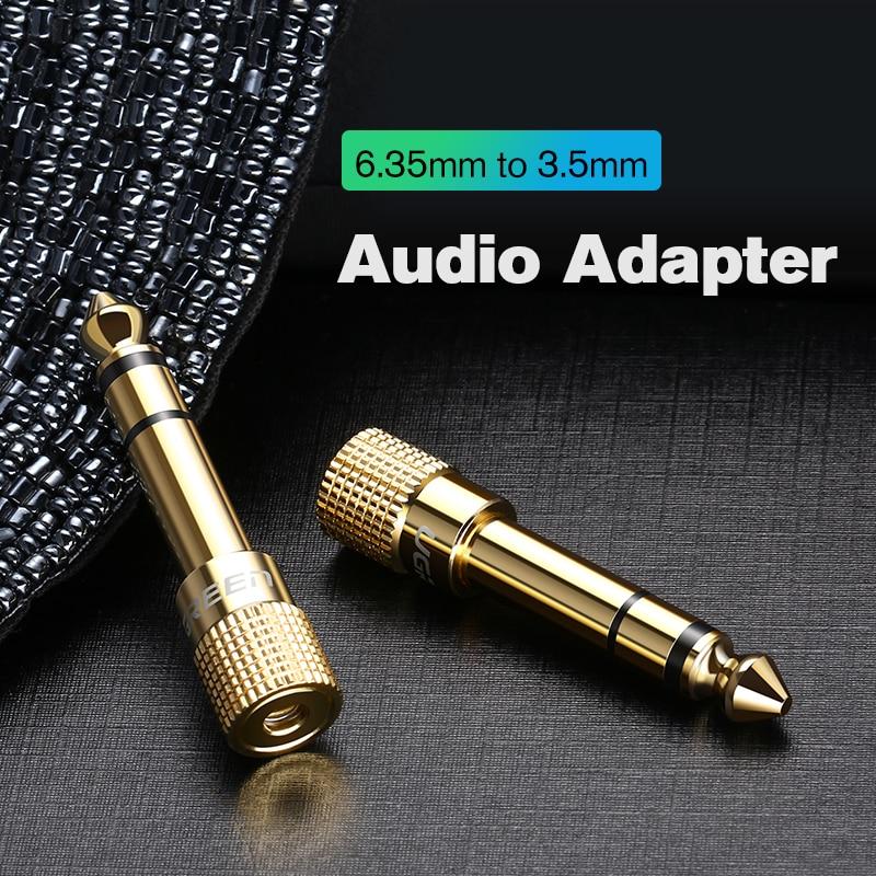 Ugreen Jack 3.5 Speaker Connector 6.35mm Male To 3.5mm Female Audio Connector 3.5 Jack Aux Cable For Speaker Guitar Jack 6.35