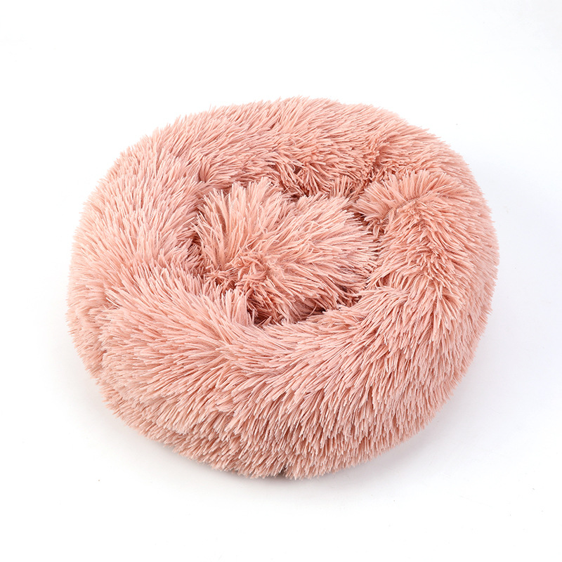 Round and Soft Pet Bed for Dogs and Cats with Anti Slip Bottom Design for Comfortable Sleep of Pets Washable by Machine or Hand