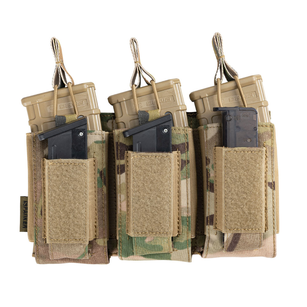 Tactical Molle Triple Magazine Pouches Military  Clip Bag AK M4 Pistol Paintball Game Accessories