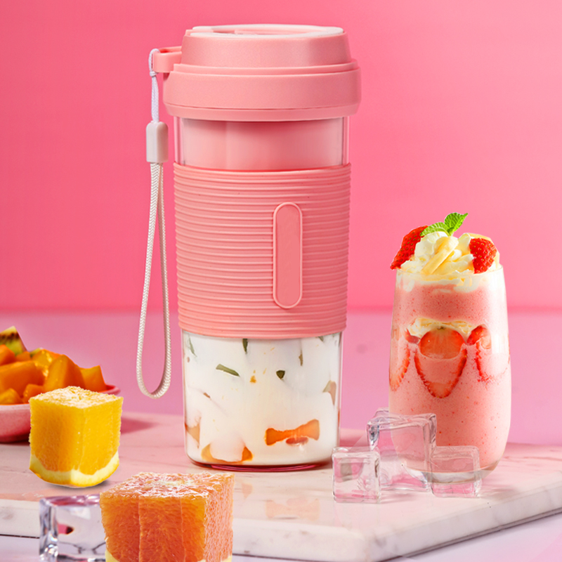 Portable fruit Juicer Blender Travel Personal USB Mixer Juice Cup with safe protection 300ML portable usb electric juicer-in Manual Juicers from Home & Garden