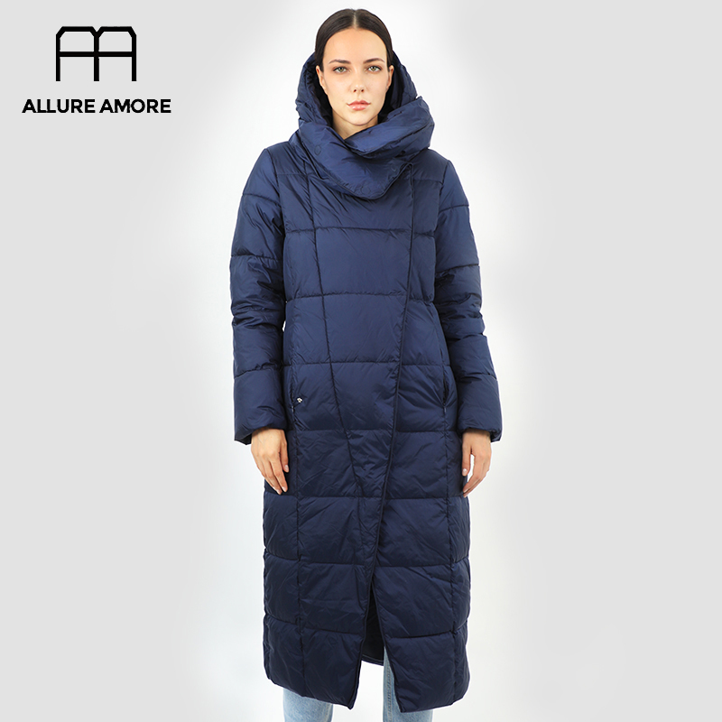 Женский пуховик, парка, верхняя одежда с капюшоном, стеганое пальто, женская длинная теплая хлопковая одежда для зимы|Парки| | АлиЭкспресс