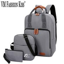 Usb-Charging-Backpack Schoolbag Book-Bag Satchel Teenagers Waterproof Boys Unisex