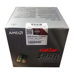 Image 4 - AMD Ryzen 5 3400G R5 3400G 3.7 GHz Quad Core Eight Thread 65W CPU Processor L3=4M YD3400C5M4MFH Socket AM4 New and have fan
