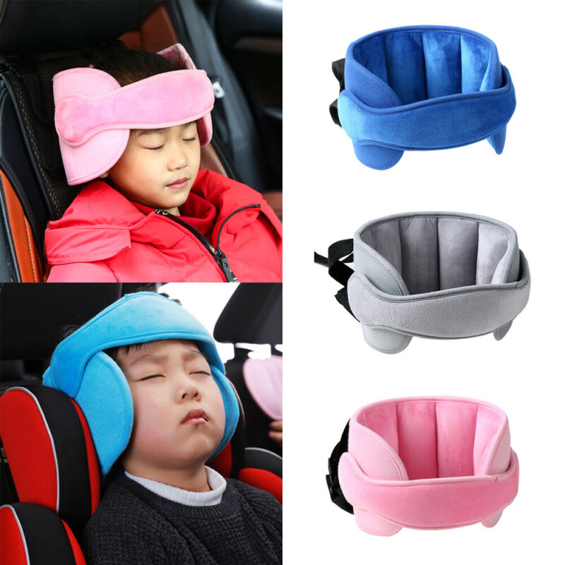 Child Car Seat Head Support Protector Belt Soft Safe Sleep Headrest Solution Pillows Belt Stroller Soft Baby Head Support