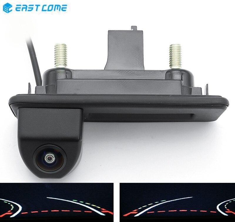 Trajektoria utworów 1080P tylna kamera samochodowa uchwyt bagażnika dla volkswagena Skoda Fabia Octavia Yeti Audi A1 A3 kamera samochodowa