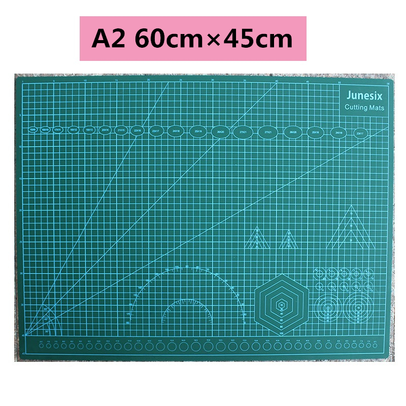 Cutting Mats A2 Grid Double-sided Plate Design Engraving Model Mediated Knife Scale Cut Cardboard School Office Supply Paper Cut
