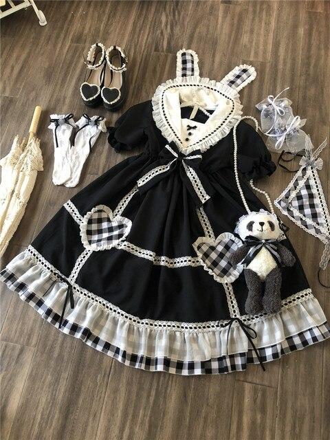Фото готическое винтажное платье лолиты с матросским воротником и цена