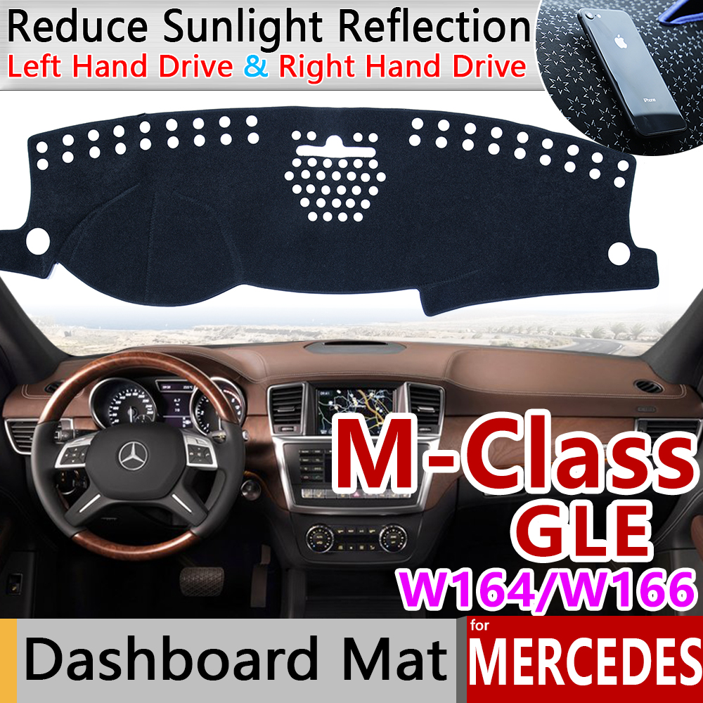 for <font><b>Mercedes</b></font> Benz M Class GLE <font><b>W164</b></font> W166 Anti-Slip Mat Dashboard Cover Pad Sunshade Accessories <font><b>ML</b></font> <font><b>350</b></font> ML250 GLE250 GLE350 AMG image