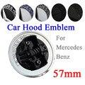 Эмблема передней капота автомобиля 57 мм эмблема значок Логотип для Mercedes Benz W124 W140 W163 W202 W203 W204 W210 W211 A2048170616