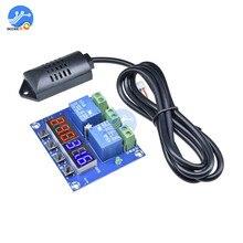 XH M452 dijital termostat sıcaklık nem sensörü inkübatör higrometre denetleyici modülü DC 12V LED ekran çift çıkış