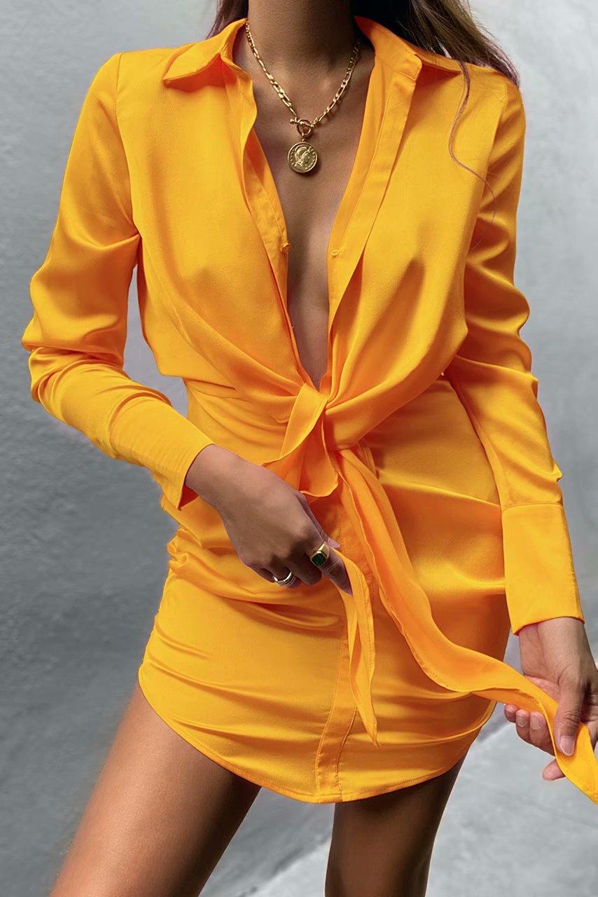 Mini dress summer long sleeves 4