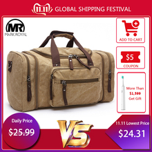 MARKROYAL Crossbody-Bag Travel-Bags Canvas Overnight Large-Capacity Tote-Carry Mens on