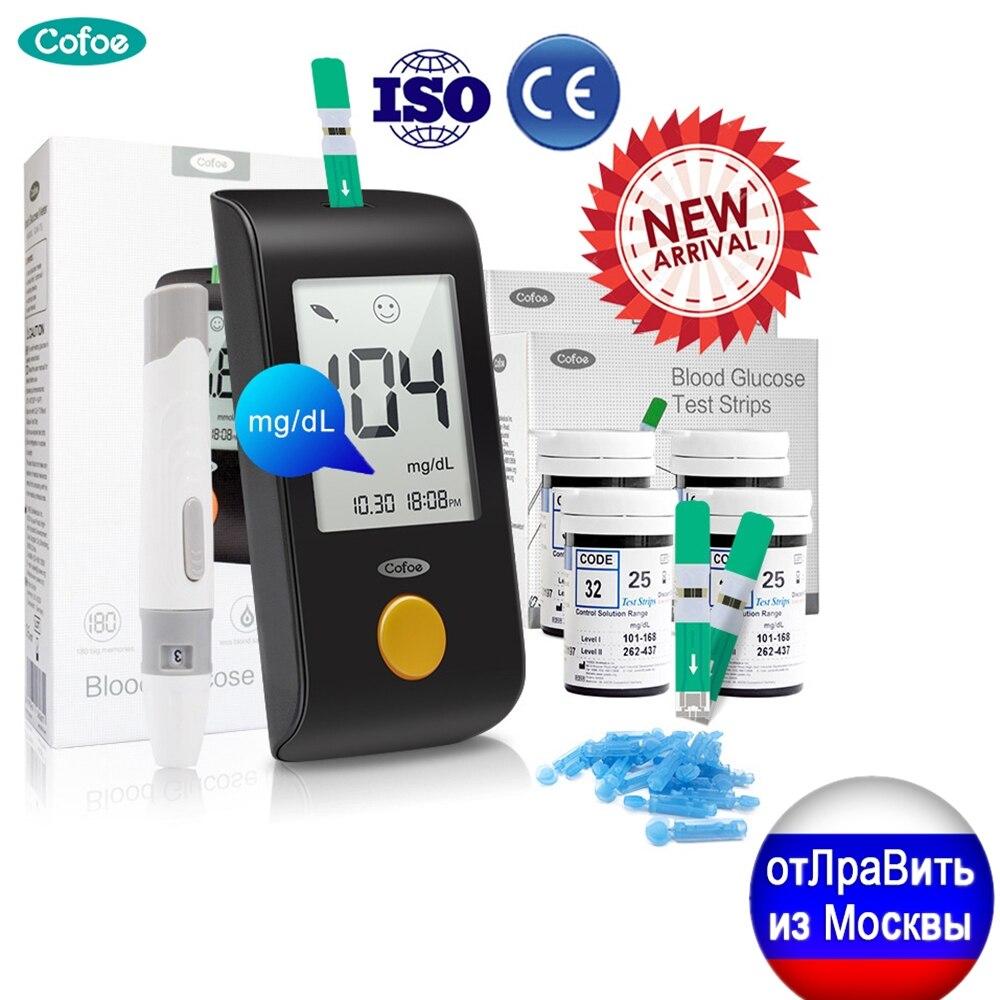 Глюкометр Cofoe mg/dL, медицинский измеритель уровня глюкозы в крови при диабете, бытовой измеритель уровня сахара в крови с тест полосками, ланцет, диабет|Уровень глюзы в крови|   | АлиЭкспресс