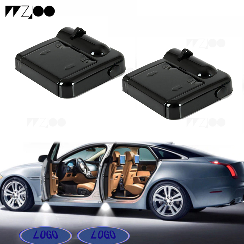 LED Car Door Courtesy Welcome Projector Light Ghost Shadow Lights Compatible with Volvo All Models 2 Pieces Wireless Car Door Logo Light for Volvo