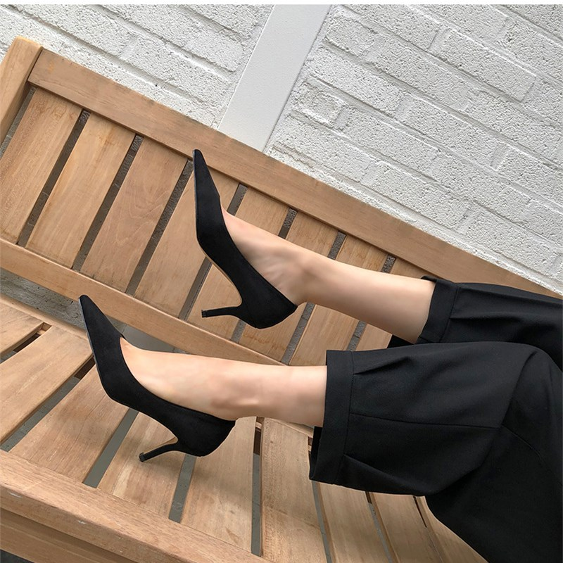 EOEODOIT 6 CM 8 CM Heels Shoes Women Formal Fashion High Stiletto Heels Office Party Shoes Sexy Pointed Toe Slip On