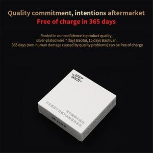 Image 4 - Обновляемый кабель для наушников KZ, черный, посеребренный, для ZS10/ZSA/ZS6/ZS4/AS10, 0,75 мм, 2 контакта, съемный аудиокабель для наушников