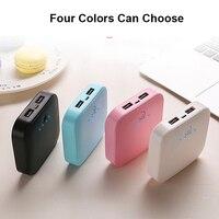 10000mAh Mini Power Bank batteria esterna doppia uscita USB Powerbank per Huawei iPhone Android Samsung cellulare Poverbank