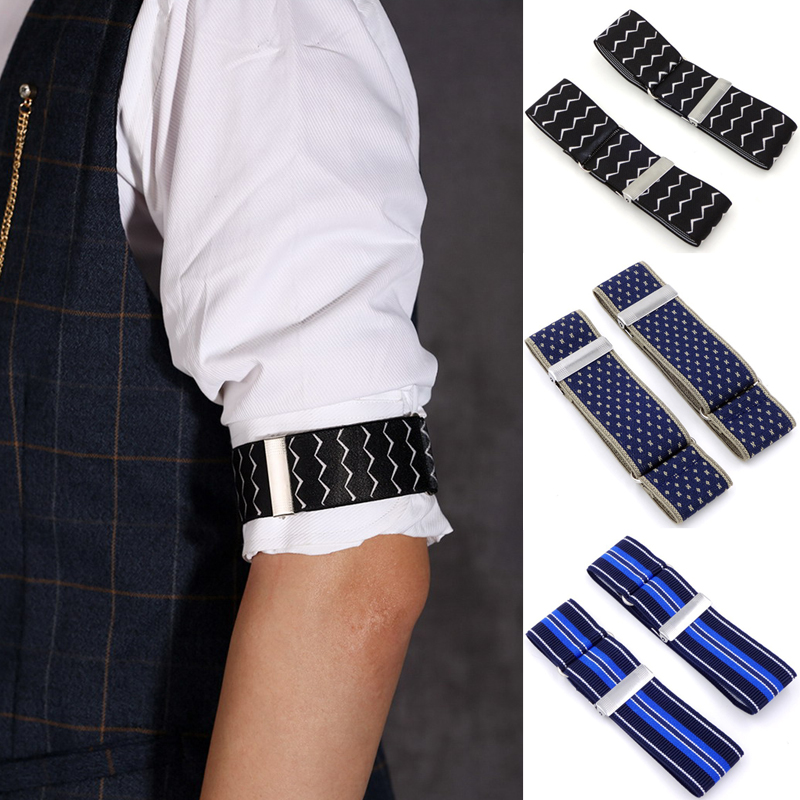 2020 Men Business Elastic Adjustable Shirt Sleeve Garter Strap Arm Band Sleeve Cuff Holder Armband