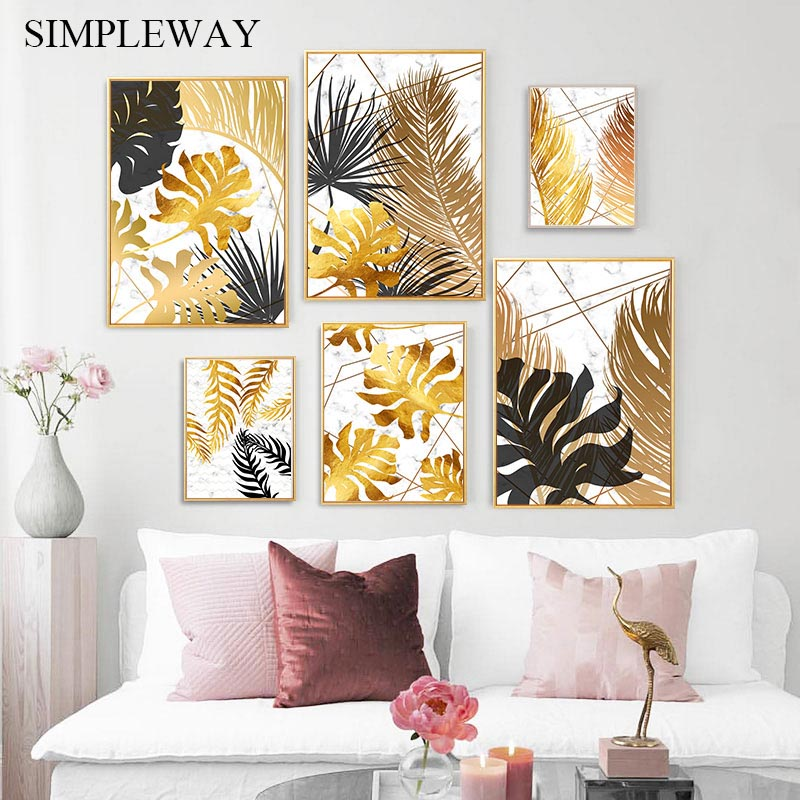 Marble Flower Abstract Modern Style Canvas Poster Contemporary Wall Art Print