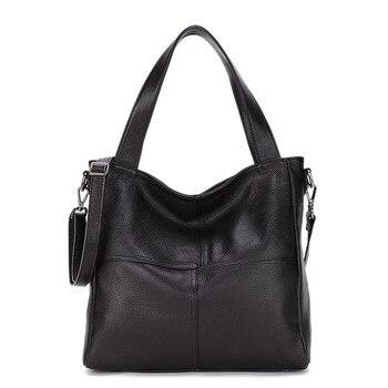Special Offer 100% Real Leather Women Designer Handbags Brand Cowhide Genuine Leather Women Shoulder Bag Elegant Totes