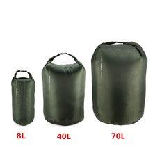Nova 8l 40l 70l saco de natação portátil à prova dwaterproof água saco seco saco de armazenamento bolsa para acampamento caminhadas natação trekking barco uso