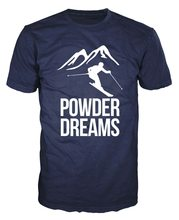 Powder Dreams Skiing Alpine Ski Winter Sports Freestyle Downhill Unisex T-Shirt Male Female Tops TEE Shirt(China)