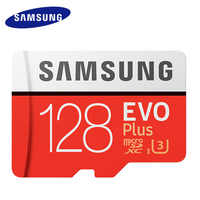 SAMSUNG tarjeta Micro SD de 128 GB de memoria de la tarjeta EVO, con más de 128 GB Class10 TF tarjeta C10 microsd UHS-I U3 cartao de memoria flash mecard