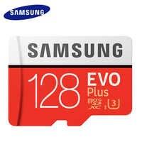 Samsung micro cartão sd 128 gb cartão de memória evo plus 128 gb class10 tf cartão c10 microsd UHS-I u3 cartão de memória flash mecard