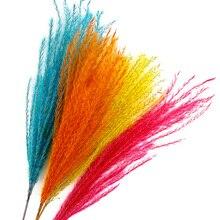 Fotografia tło akcesoria rekwizyty długość 50cm naturalne Reed czerwony żółty niebieski suszone kwiaty DIY ozdoby przedmioty fotografia