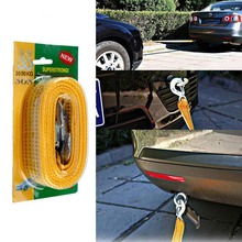 Fit 3 Ton 4 Meter Heavy Duty Tow Ropes Nylon High Strength Trailer Car Emergency Safety Towing Rope Strap