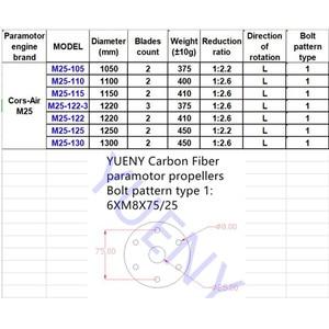 Image 5 - YUENY CorsAir M25 105,110, 115, 120,122,125cm  carbon fiber paramotor propeller powered paraglider propeller good quality carbon