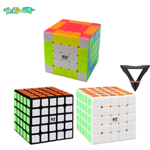 QiYi QiZheng S 5x5x5 Magic Cube Speed Puzzle Professional 5x5 Stickerless  cubic anti-stress 5 By Toys For Children