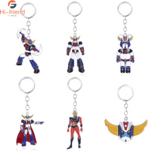Mazinger Z Robot Grendizer Keychain ROBO Small Pendant Car Mens Classic Cute Accessories