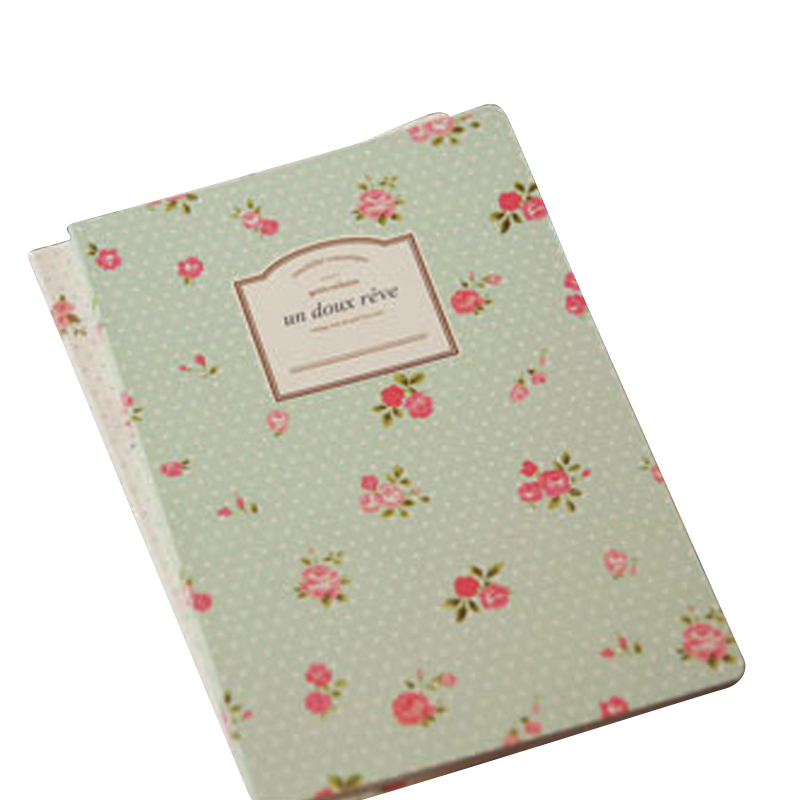 Specialty Journal, Travel Diary, Notepad, Unlined Paper Sketchbookt Countryside Rose A5 Transverse Line Soft Copy Memo Notebook