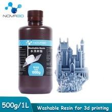 Resina sensível uv 500g 1000g da resina lavável água da resina da impressora 3d do lcd fotocurando materiais de impressão para o mono elegoo do fóton