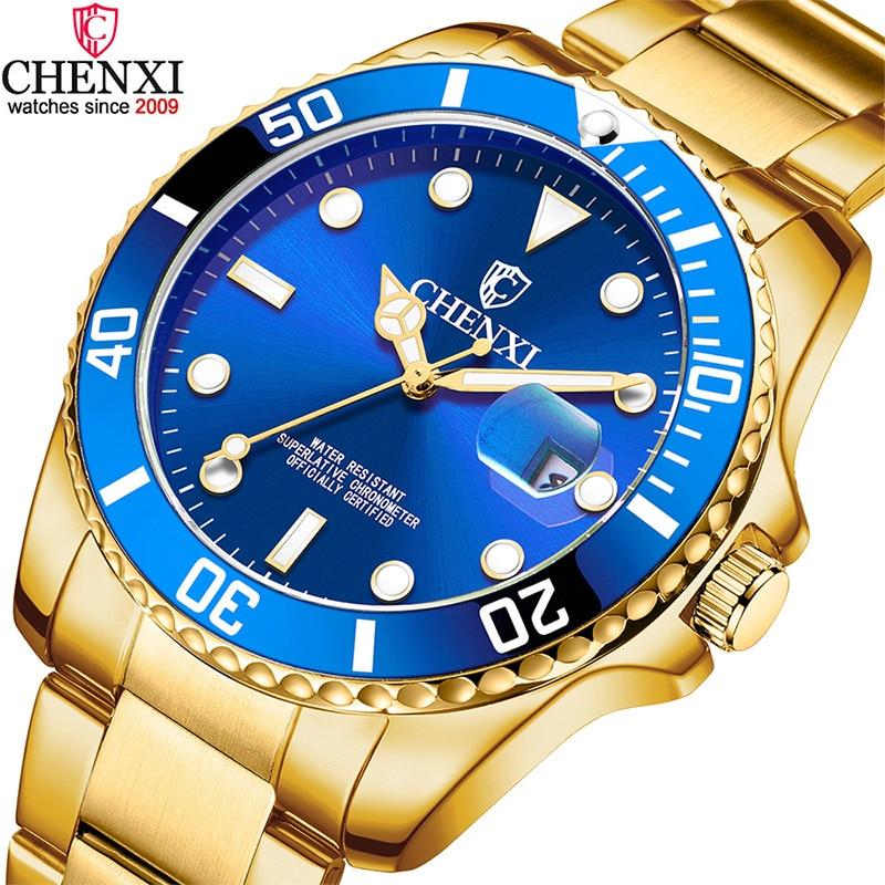 Luxury Top Brand Gold Men Watch Unique Blue Golden Business Dress Watch for Male Minimalism Luminous Pointer Waterproof Clock|Quartz Watches|   - AliExpress