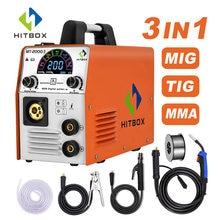 HITBOX – Machine à souder 3 en 1, 220V, 160A, ARC TIG, MIG, FLUX CO2, sans gaz, pour la maison