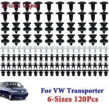 Erick-limpiaparabrisas para puerta de coche, Clips embellecedores de carrocería, Pin de empuje, remache Interior de techo, alfombra, retenedor para VW Transporter T4 T5 T6, 120x